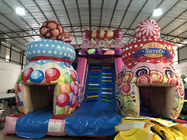 China Customized High Inflatable Candy House Dry Slide For Christmas 8 X 6 X 6m factory