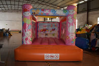 China Cute Rabbit Inflatable Jump House 3x4m / Kids Small Bouncy Castle factory
