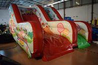 China PVC Tarpaulin Forest Commercial Inflatable Water Slides / Outdoor Mini Dry Slide factory
