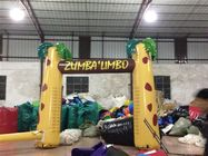 PVC material inflatable measure the height arch digital printing inflatable advertising arch palm tree inflatable arch