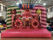 Digital Printing Inflatable Candy Bounce House For Christmas Festival Inflatable