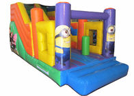 China Long stripes inflatable combo inflatable minions themed combo cute minions inflatable combo factory