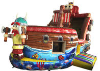 Durable Inflatable Pirate Boat / Commercial Inflatable Pirate Boat Family Use