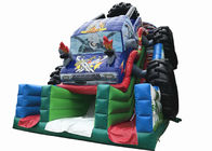 Durable Monster Truck Inflatable Slide / Digital Printing SUV Expedition Car Dry Slide