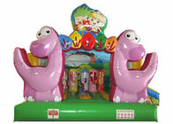 Inflatable Dinosaur Baby Bouncy Castle , Quadruple Stitching Toddler Jumping Castle