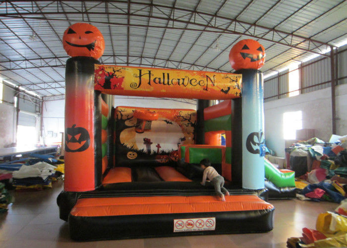 Inflatable Halloween Pumpkin Theme Minnie Mouse Jumping ...