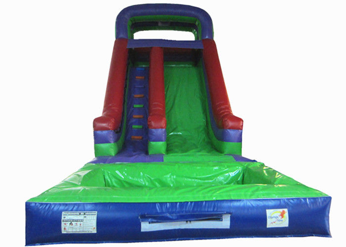 Dark Green Large Commercial Inflatable Water Slides Bounce House With Slide