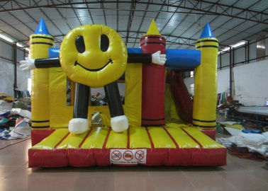 China Big inflatable smiling face combo inflatable happy face crayon combos PVC inflatable combo factory