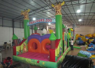China Inflatable Parcours Zoo animals Insane inflatable obstacle course sessions wildlife park inflatable obstacle courses distributor