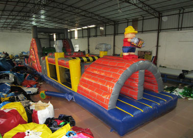 China Commercial inflatable obstacle courses construction worker inflatable obstacle courses inflatable builder courses distributor