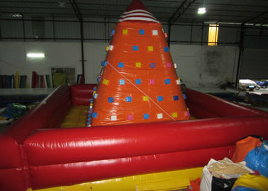China Attractive Inflatable Climbers For Toddlers , Funny Inflatable Climbing Tower 6 x 6m factory