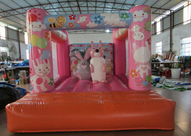 China Custom Made Inflatable Small bouncer Pink inflatable rabbit Jump house on sale distributor
