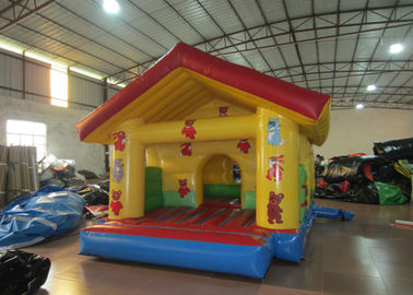 China Little Size PVC Kids Inflatable Bounce House For Kindergarten / Farm Jump Bouncy Castles distributor