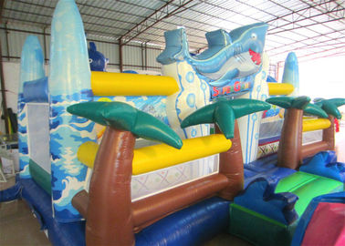 China Giant Inflatable dolphin New Ocean undersea world Fun city Inflatable ocean playground park distributor