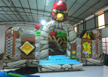 China New The Gorilla Inflatable Fun City Animals The construction inflatable Amusement Park For Children under 12 years distributor