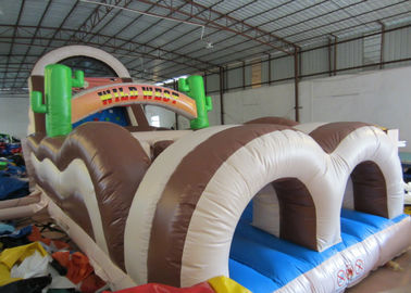 China Inflatable Obstacle Bounce House 18.3 X 3.7 X 5.5m  , 40 Ft Obstacle Course Inflatable distributor