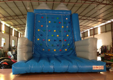 China Kindergarten School Inflatable Rock Climbing Wall Double Stitching 5 X 5 X 6m factory