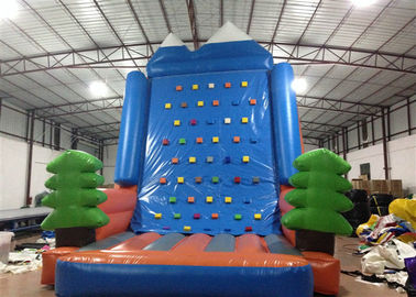 China Amusement Park Inflatable Rock Climbing Wall Sports Games Straight inflatable climb wall with the pine trees distributor