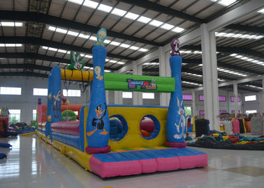 China Giant  4 In 1 Bugs Bunny Moonwalk Obstacle Course , Customized Inflatable Water Obstacle Course distributor