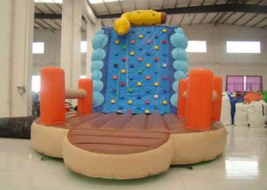China Inflatable Climbing Wall And Slide 5 X 3.8 X 4.5m , Big Blow Up Rock Climbing Wall distributor