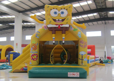 China Lovely inflatable spongebob bouncer castle cute hot sale inflatable spongebob jump house with slide factory