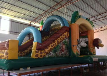 China Hot sale inflatable safari park bouncer house Classic inflatable forest animals combo jumping house for children on sale distributor