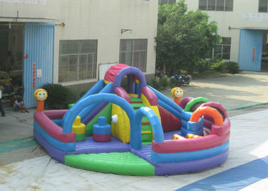 Outdoor Games Inflatable Fun City 0.55mm Pvc Tarpaulin 10 X 10 X 6m Enviroment - Friendly