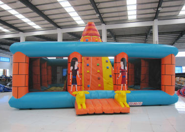 China Outdoor Amusment Park Inflatable Rock Climbing Wall 8 X 8m 0.55mm Pvc Tarpaulin distributor