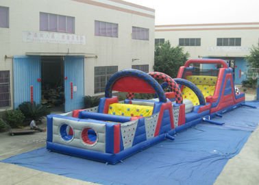 China Long Track Professional Bounce House , Commercial Obstacle Bouncy Castle Outdoor games Reliable inflatable distributor