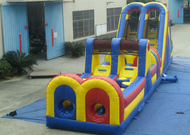 China Giant Customized Obstacle Course Jumpers , Indoor Moonwalk Obstacle Course distributor