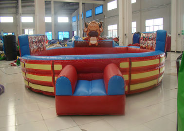 China Attractive Inflatable Rodeo Bull , Funny Theme Inflatable Bull Ride Digital Printing factory