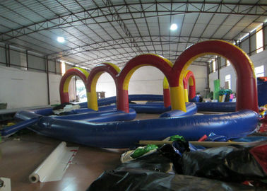 China Outdoor Race Track Inflatable Sports Games 12 X 12m 0.55mm Pvc Tarpaulin Fireproof factory