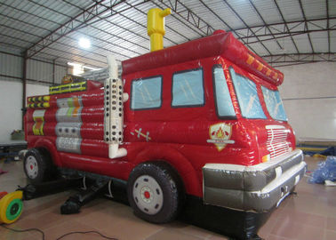 China Funny Firetruck Inside Bounce House , Kindergarten Baby Indoor Inflatable Bouncer distributor