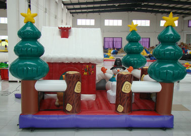 China Party Blow Up Christmas Tree Decoration , Giant Christmas Inflatables Bouncer House distributor
