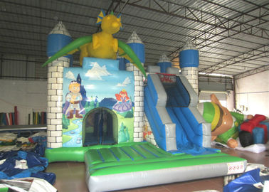 China Dragon Design Inflatable Jump House Commercial Grade Digital Printing Fireproof distributor