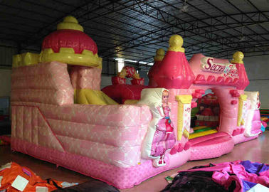 China Waterproof Princess Bouncy Castle  Full Digital Printing , Attractive Giant Bouncy House distributor