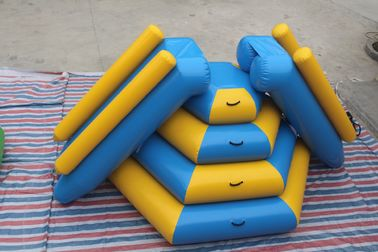 China Fireproof Material Double Inflatable Water Slide Airtight Tower Slide For Park distributor