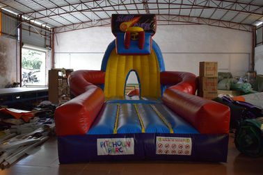 China PVC Material Inflatable Sport Games , Exciting Slam Dunk Inflatable Basketball Game distributor
