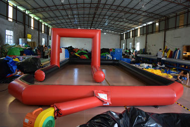 China Inflatable racing track for karting games interesting outdoor inflatable sport games racing area distributor