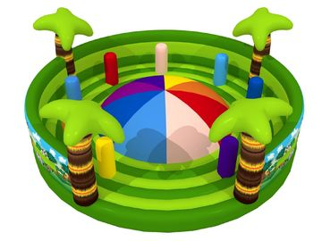 China Round Shape Interesting Outdoor Inflatable Sports Games Forest Painting Mountain With Fence Walls distributor