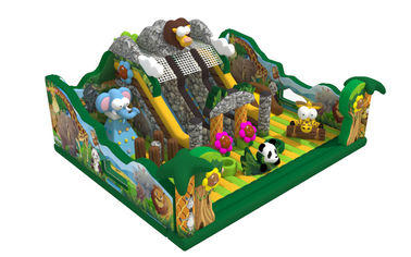 Safari Amusement Park Inflatable Fun City For Children Forest Animals Themed
