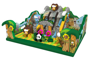 China Safari Amusement Park Inflatable Fun City For Children Forest Animals Themed distributor