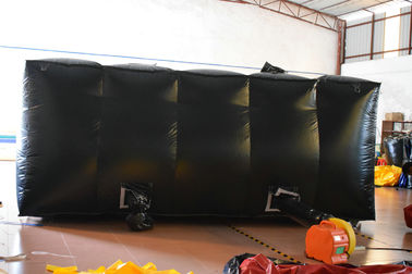 China Exciting Square Black Inflatable Sports Games / Outdoor Inflatable Laser Tag Arena distributor