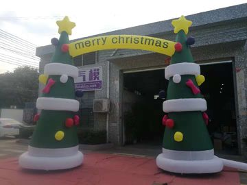 China 8OZ  Fabric Inflatable Christmas Arch With Digital Printing / Custom Advertising Inflatables factory