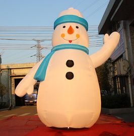 China 8OZ Fabric Inflatable Christmas Decorations / Blow Up Snowman For Winter distributor