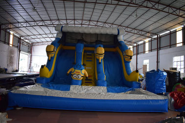 China Inflatable minion dry slide commercial inflatable minion slide cheap price inflatable wide minion dry slide for children distributor