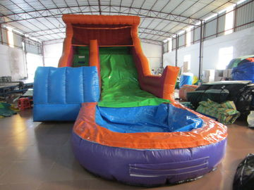 China Big inflatable water slide with pool PVC inflatable water slide Colourful inflatable slide with pool commercial slide distributor