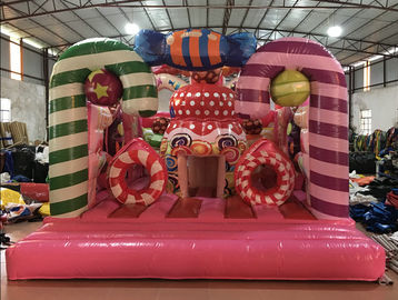 China Digital Printing Inflatable Candy Bounce House For Christmas Festival Inflatable distributor