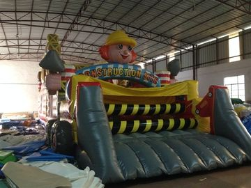 China New Inflatable Construction Themed Obstacle Course PVC Inflatable Construction Site Subject Obstacle Course outdoor game distributor