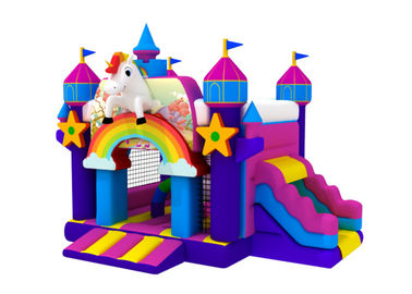 China Popular inflatable the Unicorn combo hot sale inflatable the Unicorn jumping house with slide factory